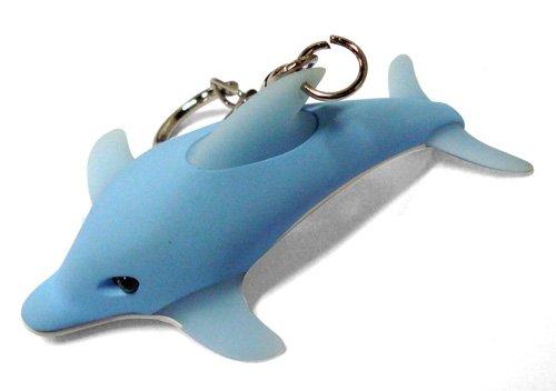 Kikkerland KRL17TC Dolphin LED Keychain with Sound