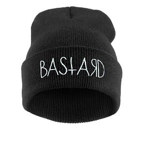 4sold - Bonnet -  Homme Noir BASTARD black white