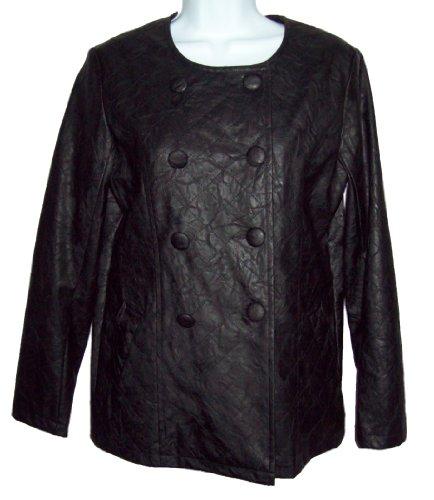 BBoston Black Pleather Jacket, Medium
