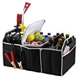 Picnic at Ascot Collapsible Trunk Organizer and Cooler Set - Black