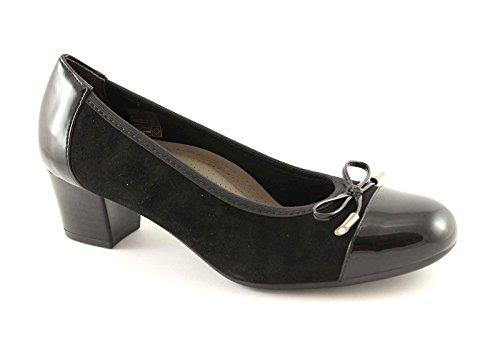 GRUNLAND TORO SC1618 nero scarpe donna decolletè elasticizzato 41