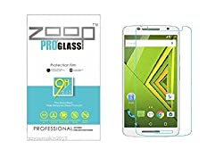 Zoop Premium 2.5D Rounded 9H 2.6mm Anti Burst Tempered Glass for Motorola Moto X Play