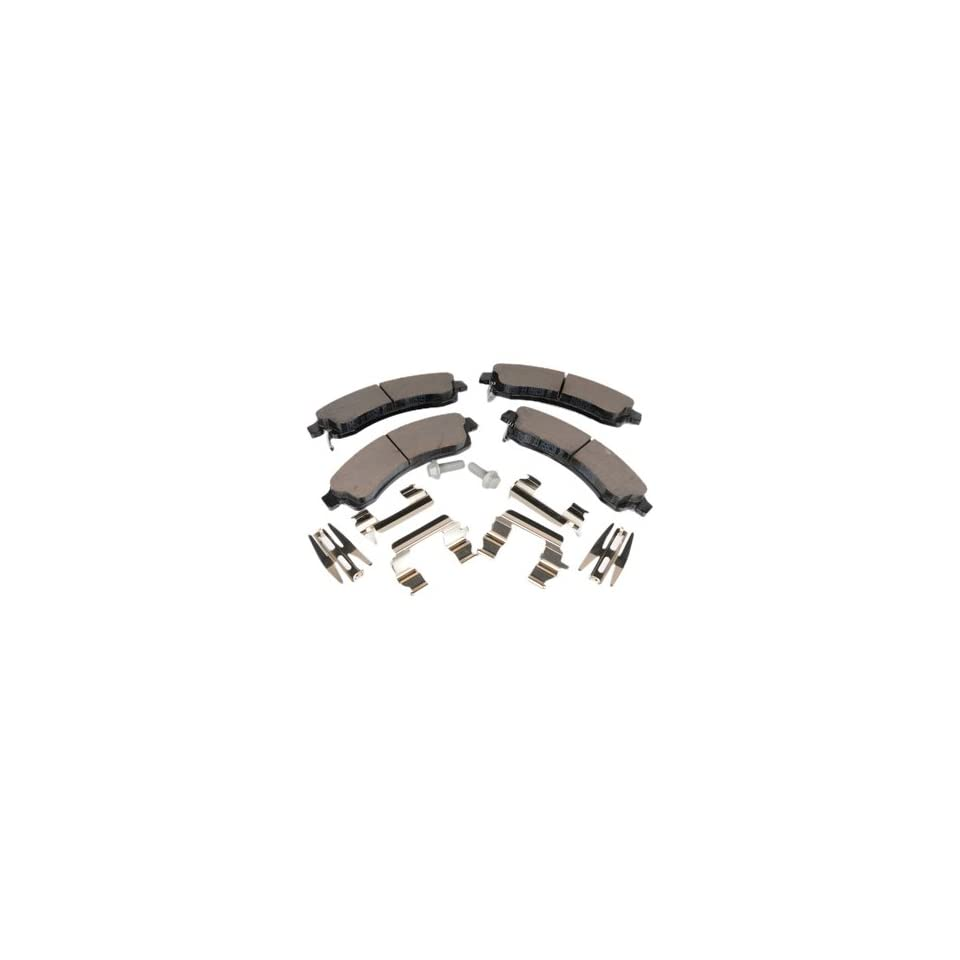 ACDelco 171 833 GM Original Equipment Front Disc Brake Pad Kit with Brake Pads, Clips, and Bolts