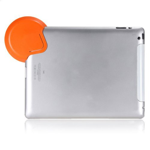 Water & Wood Orange Sound Collector Mini Amplifier Loud Speaker Compatible with iPad 2&3