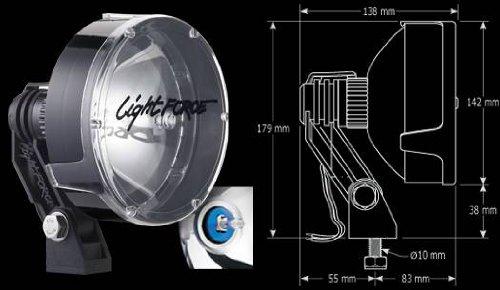 Driver side WITH install kit -Chrome 6 inch 2015 Morgan olson UDV SPRINTER Post mount spotlight 100W Halogen