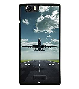 Fuson Premium 2D Back Case Cover Aeroplane With Green Background Degined For Micromax Canvas Nitro 2 E311::Micromax Canvas Nitro 2 (2nd Gen)