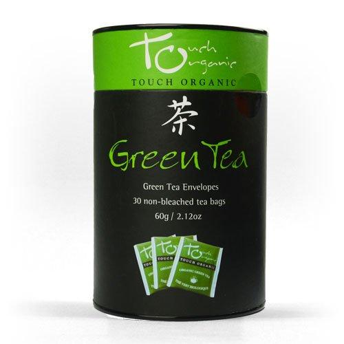 Touch Organic Green Tea Can 30 Non-bleached Tea Bags
