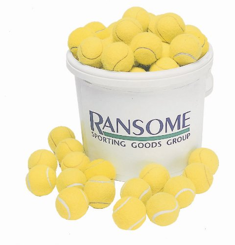 Ransome Sporting Goods 96 Tennis Ball With Bucket - Green/ White