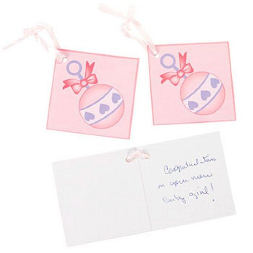 Girl Baby Shower Favor Tags (2 Dz) front-1034558
