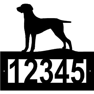 Custom Crafted WEIMARANER Steel Address Sign