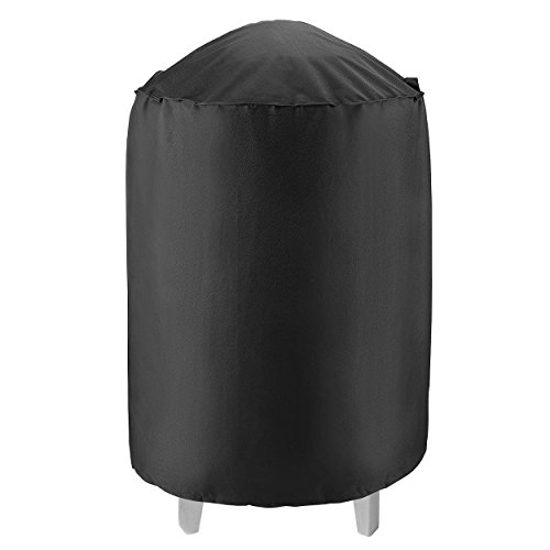 """UNICOOK Heavy Duty Waterproof Dome Smoker Cover, 30"""" Dia by 36"""" H,Kettle Grill Cover, Barrel Cover,Water Smoker Cover,Fit Grill/Smoker for Weber Char-Broil and more"""