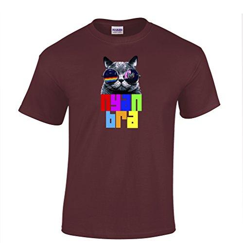 Nyan Cat Bra Tshirt Youtube internet Meme Flying Space Rainbow Poptart