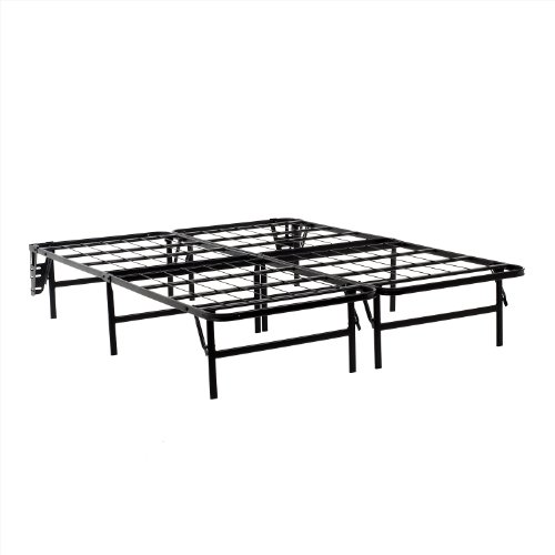 Cool Best Online Structures Foldable Bed Base Platform Bed Frame And Box Spring In One No Assembly Required Twin Deals