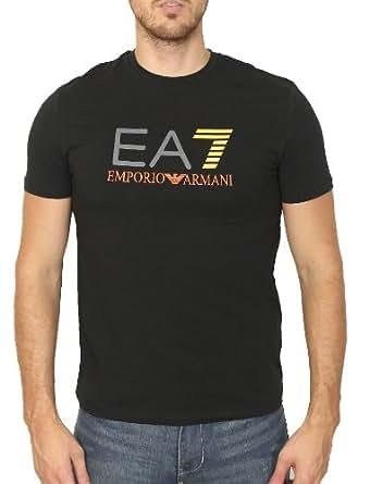 Tee-shirts ARMANI JEANS pour Mode homme, Modèle 3P206 noir/7 orange Train graphic ea7