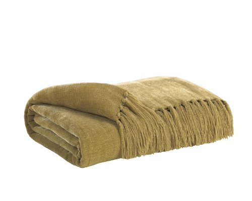 Gold Throw Blanket front-1067145