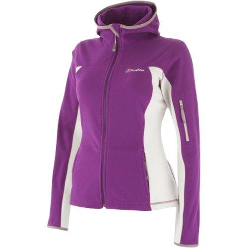 Berghaus Stretch Micro Fleece Hooded Jacket Women's - Purple Berry /Stone, Size 10