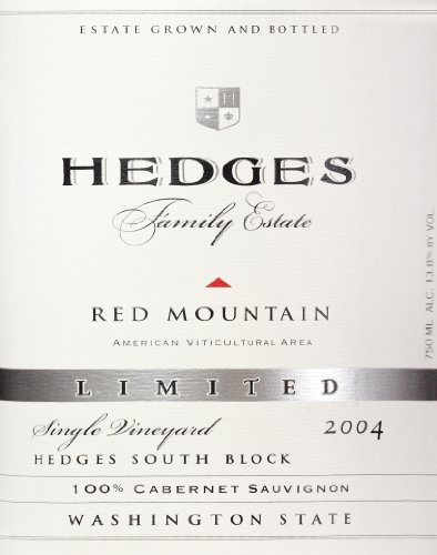 2004 Hedges Family Estate Single Vineyard Limited Cabernet Sauvignon 750 Ml