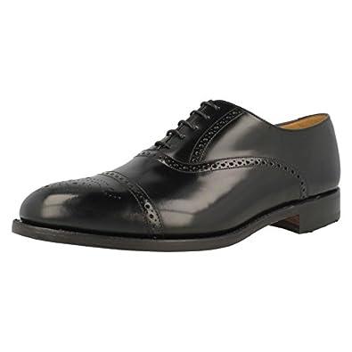 Loake Bros Ltd Mens 'OBAN' Semi Brogue in Black leather. 6 UK F