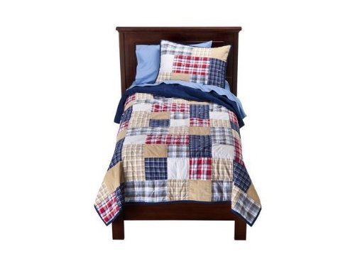 Boys Plaid Bedding 9084 front