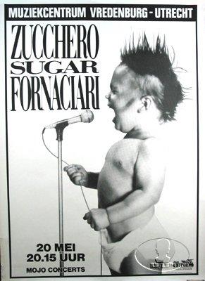 ZUCCHERO SUGAR FORNACIARI 1986 TOUR CONCERT POSTER