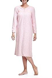 Floral Fleece Nightdress [T37-4875-S]
