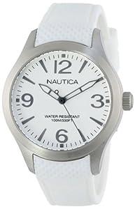 Nautica Midsize N11097M BFD 102 Mid Classic Analog with Enamel Bezel Watch