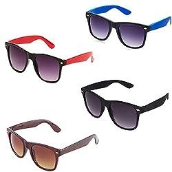 Rhodopsin UV Protected Avaitor Sunglasses (4_Bk_Br_Red_Blue_Wayfarer)