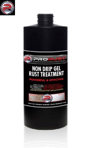 ProRust - 1 litre Professional Non Drip Gel Rust Remover & Treatment. Treats and removes corrosion from steel, stainless steel and aluminium metal. Liquid formula also available!