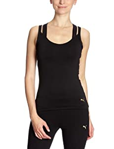 Puma W Fit Tp Meshlayer Top T Shirt Multisport Femme Noir L