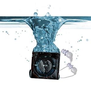 Underwater Audio Waterproof iPod Swimbuds Bundle (Slate)