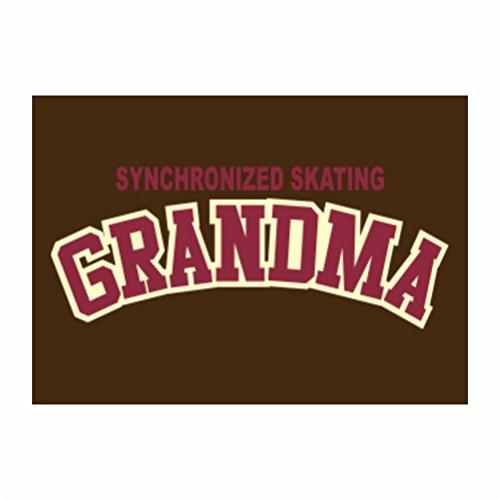 Teeburon Synchronized Skating GRANDMA Pack of 4 Decal