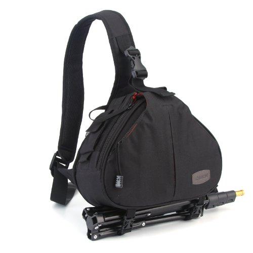 Caden K1 DSLR Sac à dos pour Caméra Noir