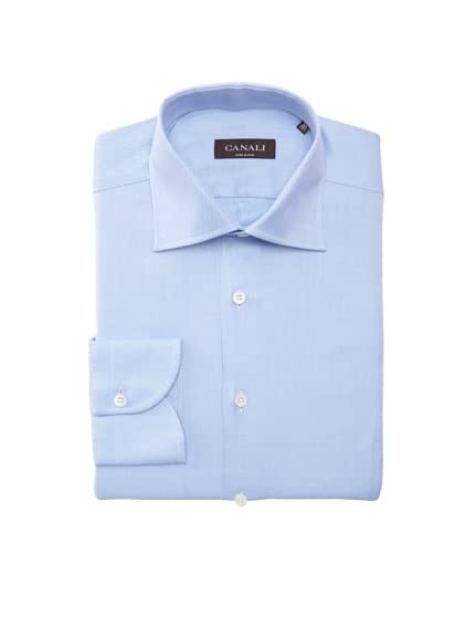 Canali Men's Diagonal-Striped Slim Fit Shirt