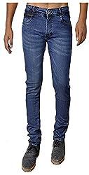 Dangerous Flyer Men's Slim Fit Jeans (DG-US, Blue, 36