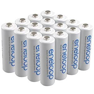Sanyo Eneloop AA 16 Pack NiMH Pre-Charged Rechargeable Batteries -Newest version-FREE BATTERY HOLDER- Rechargeable 1500 times