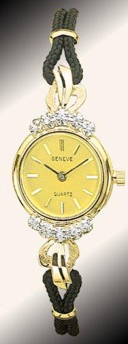 Geneve 14K Gold Diamond Womens Watch - OW247