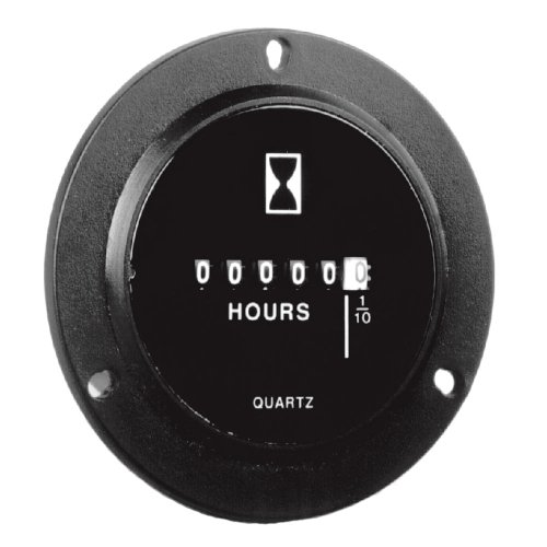 Intermatic Gz40Bu 2.8-Inch Diameter, 10-80Vdc Dc Hour Meters Round Three Hole Bezel