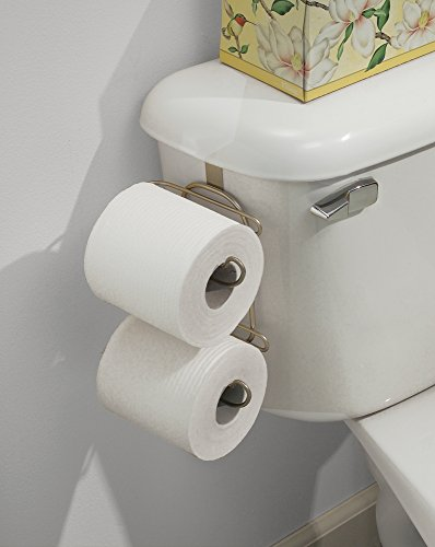 Bathroom Toilet Tissue Holder 2 Roll Over Tank Rust Proof Easy Install Compact Ebay