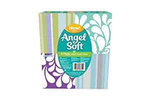 Angel Soft, Lotion, Cube Facial Tissue, [4 Cubes*4 Pack] = 16 Total Count