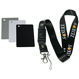 Zeikos ZE-DGC Digital Grey Card Set with Lanyard