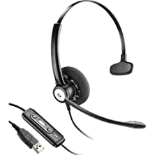 buy Plantronics Blackwire Monoaural Over-The-Head Ultra-Lightweight Noise-Canceling Hands-Free Pc Usb Headset With Comfort Fit Wideband Headband & In-Line Call & Volume Controls