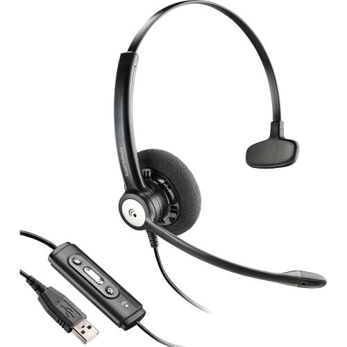 Plantronics Blackwire Monoaural Over-The-Head Ultra-Lightweight Noise-Canceling Hands-Free Pc Usb Headset With Comfort Fit Wideband Headband & In-Line Call & Volume Controls For Microsoft Office Communicator