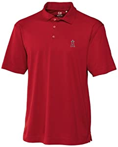 MLB Los Angeles Angels Mens Drytec Genre Polo Knit Short Sleeve Top by Cutter & Buck