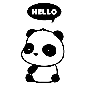 Amazon.com: Hello Panda Thought Bubble Cute Cartoon Vinyl