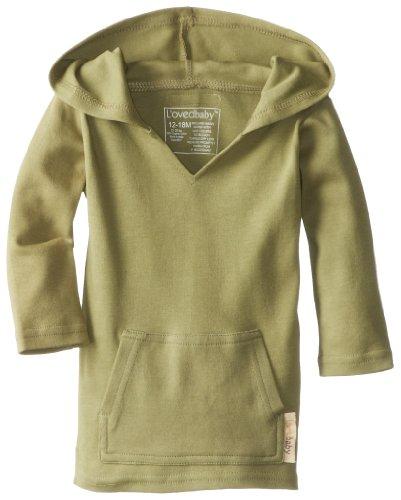 L'Ovedbaby Unisex-Baby Newborn Organic Hoodie, Sage, 18/24 Months front-982968