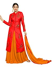 AnK New Arrival Women's Pink Cotton Embroidered Semi Stitched Salwar Suit With Two Bottom (Salwar)