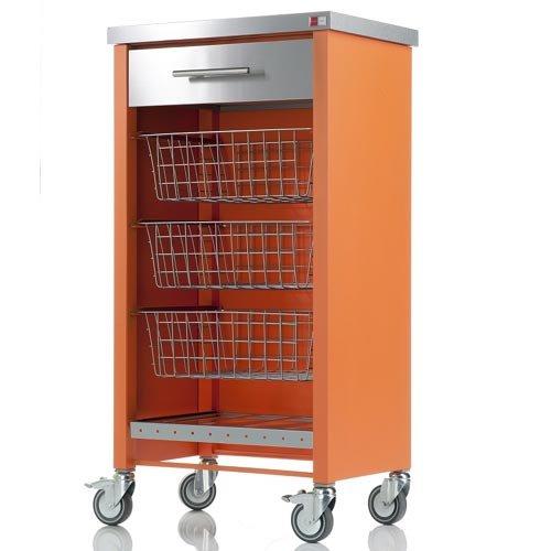 Don Hierro Chelsea Orange Kitchen Trolley