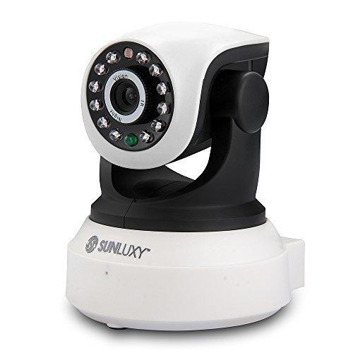 SUNLUXY® Cámara de vigilancia Inalámbrico Exterior Interior 720P 1.0MP HD H.264 1/4 CMOS P2P CCTV CAM IP Pan/Tilt IR Visión Nocturna