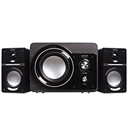 Arion Legacy AR306 AC Powered 2.1 Speaker System with Subwoofer for MP3, PC, Game Console & HDTV 50 Watts Retail Pack