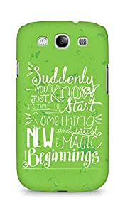 AMEZ start something new and the magic begins Back Cover For Samsung Galaxy S3 Neo